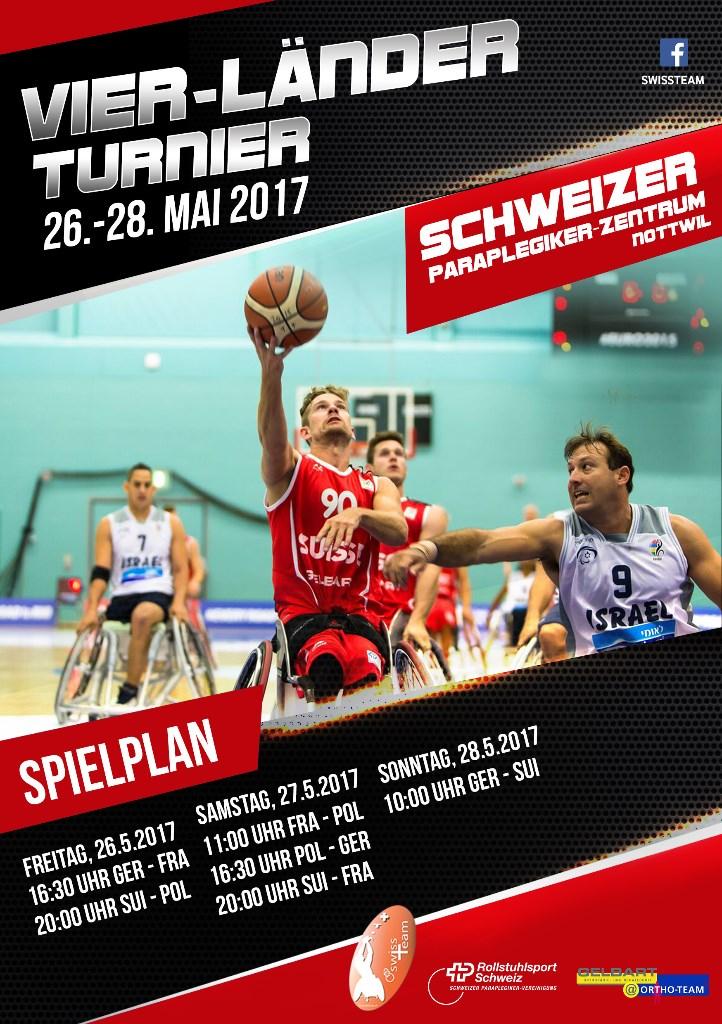 Flyer Rollsltuhlbasketball Nationalmannschaft Vier-Läner Turnier