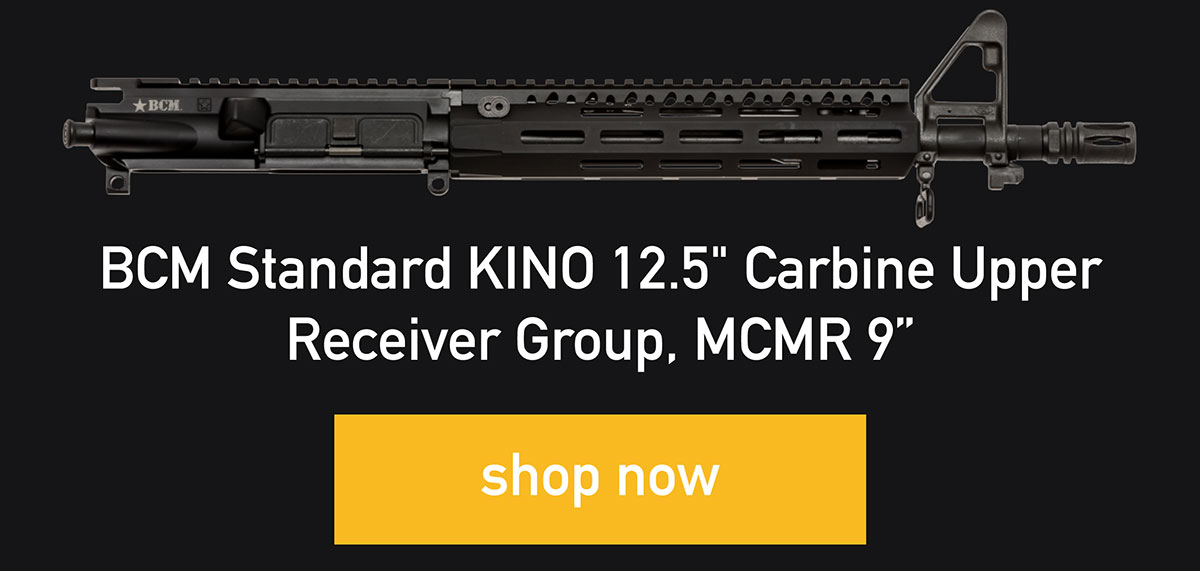 "BCM Standard KINO 12.5"" Carbine Upper Receiver Group, MCMR 9"", shop now"
