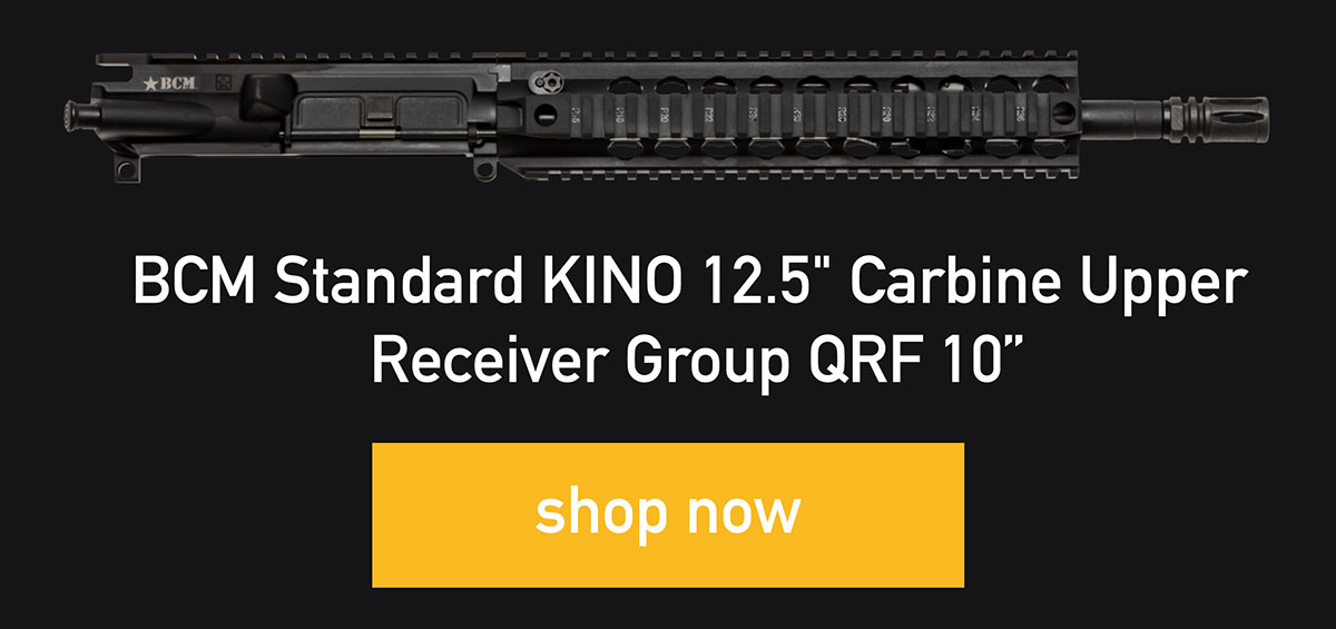 "BCM Standard KINO 12.5"" Carbine Upper  Receiver Group, QRF 10"", shop now"