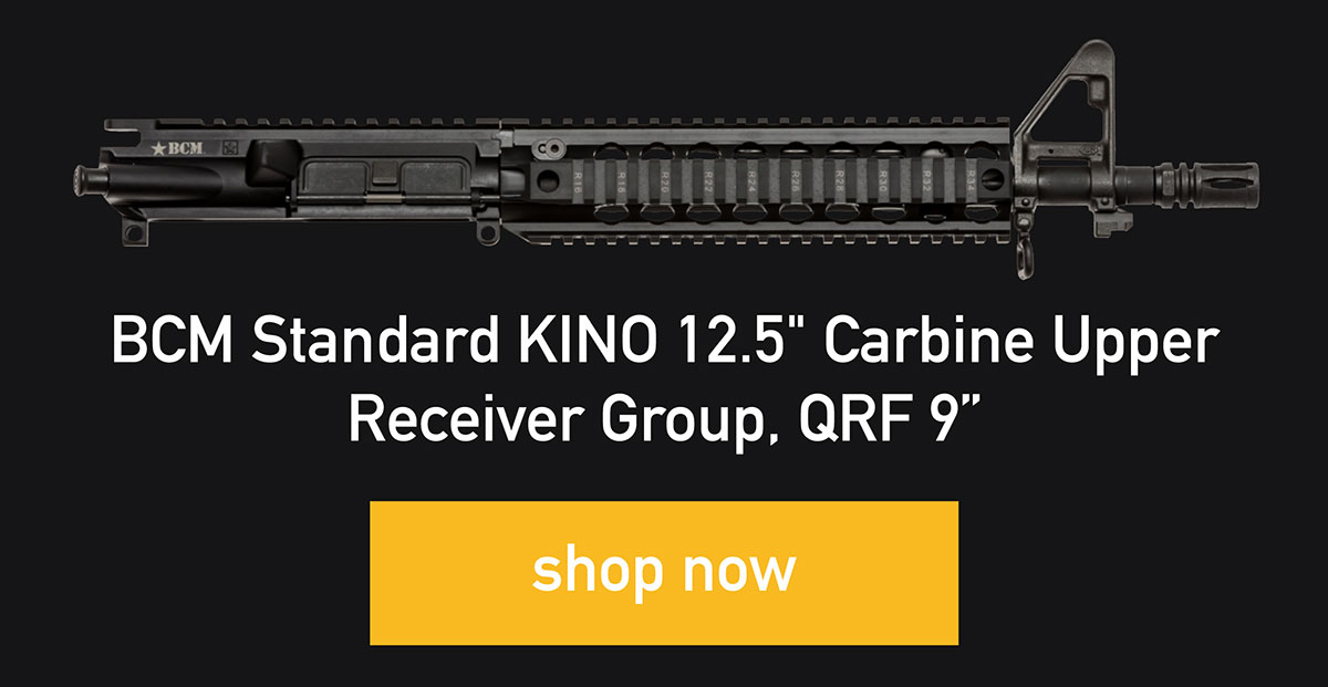 "BCM Standard KINO 12.5"" Carbine Upper Receiver Group, QRF 9"", shop now"