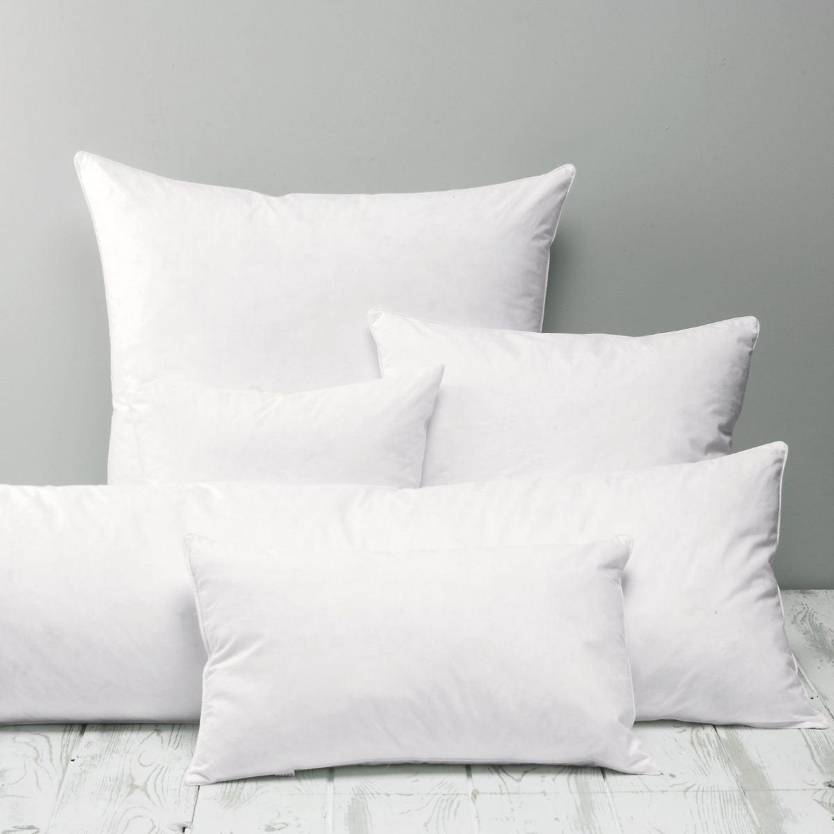 Multiple white pillows