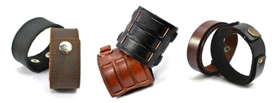 leather cuff bracelets by CrafterElena