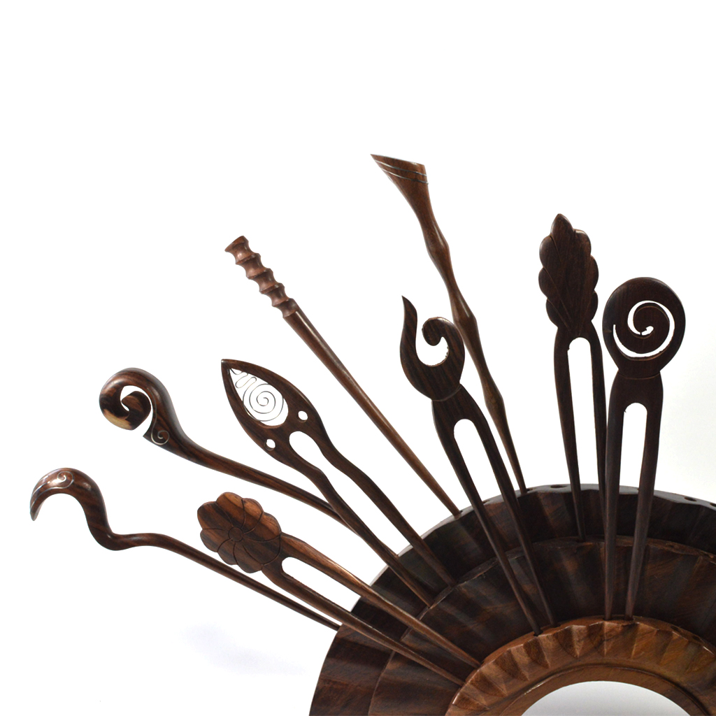 handmade wooden hair sticks by CrafterElena
