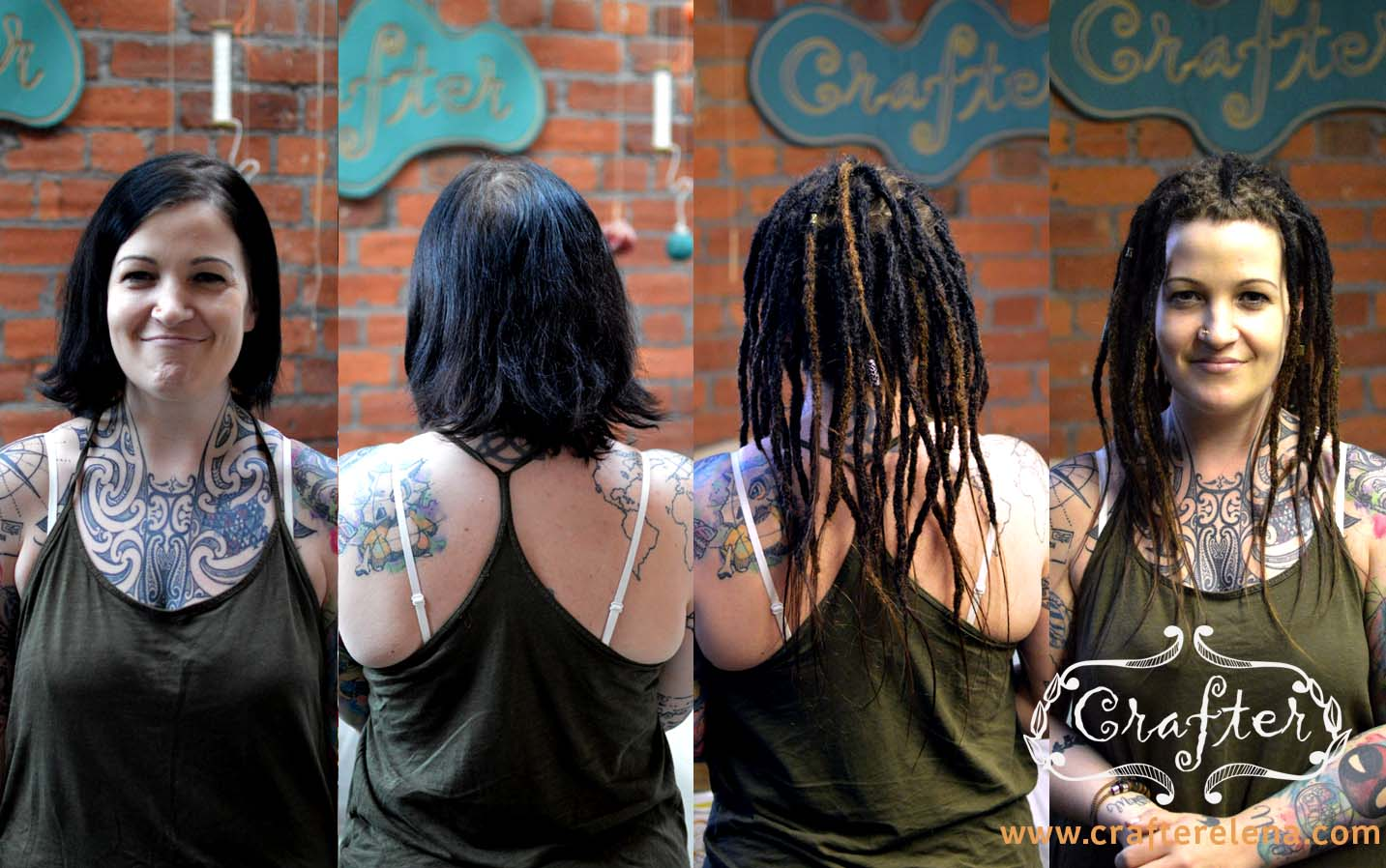 dreads from scratch, tattoos and dreads, before and after dreadlocks by CafterElena, dreadlocks manchester