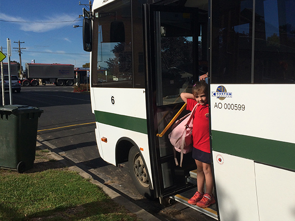 Bus Stopping at New Kaniva Bus Stop