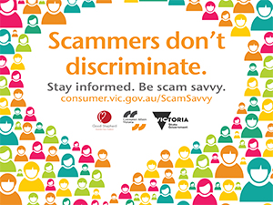 Scammers dont discriminate poster