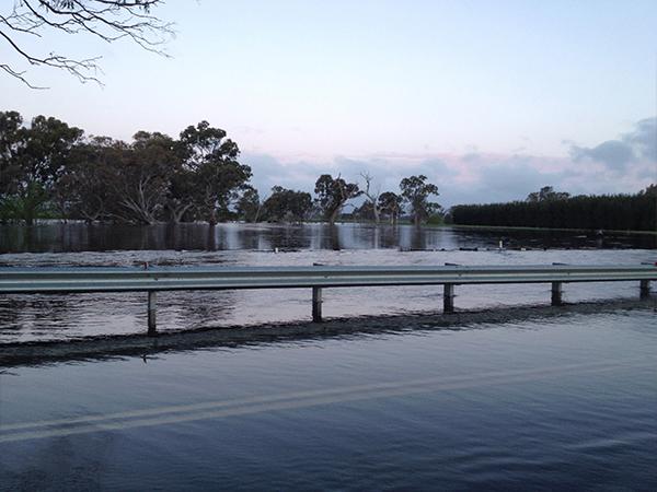 Flooded Langkoop Bridge