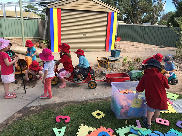 Goroke Kindergarten Children playing