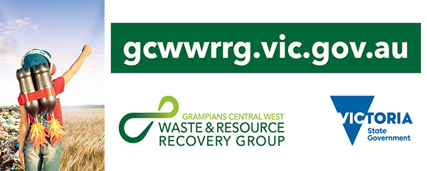 Grampians Central Waste & Resourse Recovery Group and Victoria State Government logos