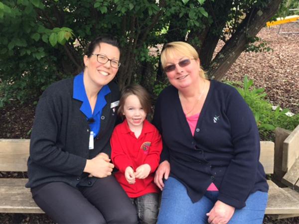 Tarra Dodds, WWHS Speech Pathologist with Archer and Edenhope Kindergarten Teacher, Gillian