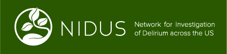 Banner reading NIDUS Network for Investigation of Delirium across the US