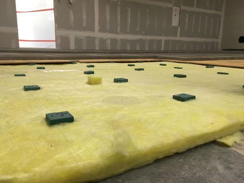 const floor layers closeup