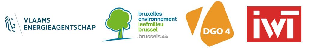 Vlaams Energieagentschap | Leefmilieu Brussel | DGO4 SPW Wallonie | IWT