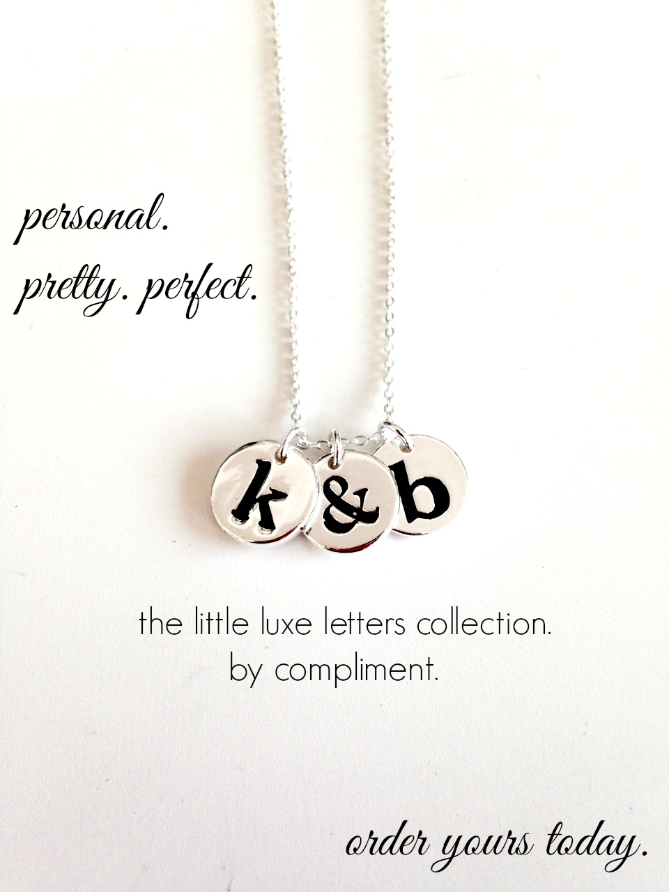 shop compliment letter necklace