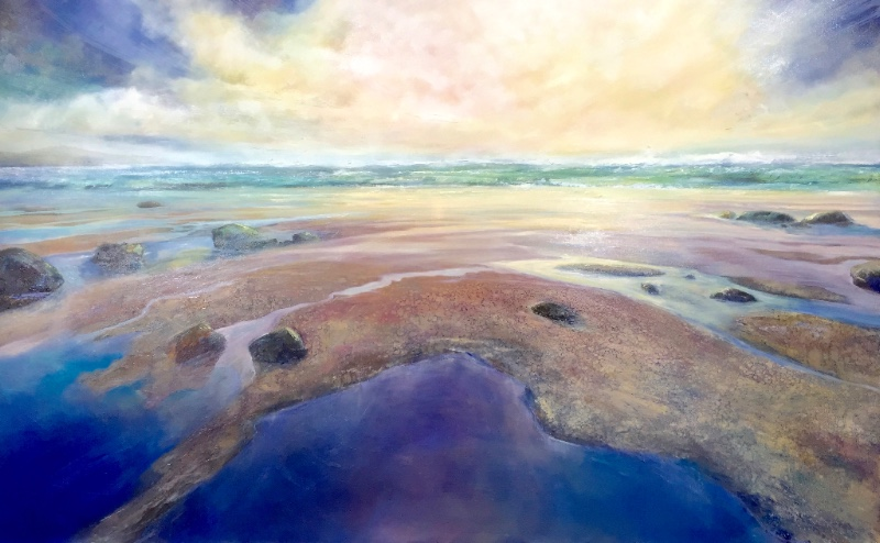 Ultramarine Pool | Oil on canvas | 100cm x 160cm by Sarah Jane Brown