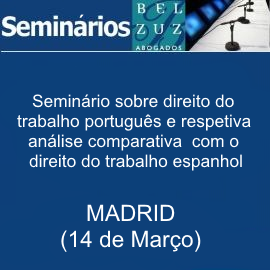 Seminários sobre direito do trabalho português e respetiva análise comparativa com o direito do trabalho espanhol