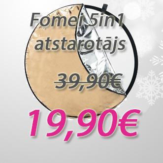 Fomei 5in1 atstarotājs (zelts, sudrabs, balts, melns un balts caurspīdošs) par 50% lētāk.