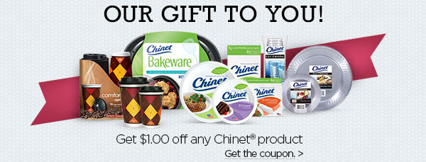 Save $1.00 on anything Chinet®
