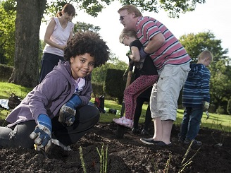 Gardening project funded by Green Spaces grants