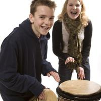 School Kids Drumming