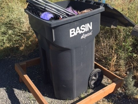 Trash can at Candy Mountain