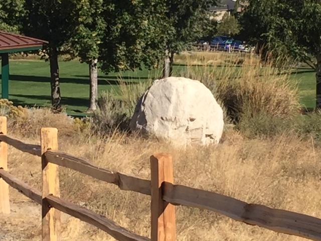 New fence outside Trailhead Park
