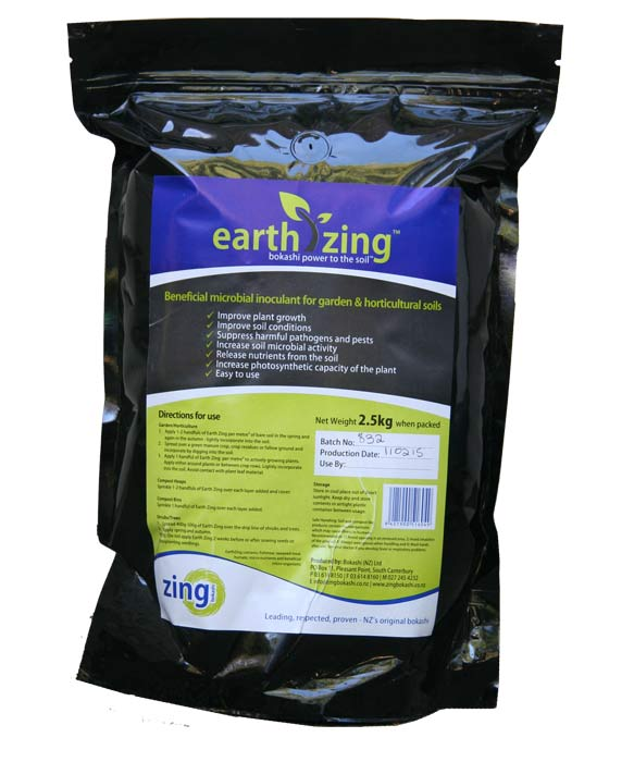 2 x 2.5kg bags of EarthZing