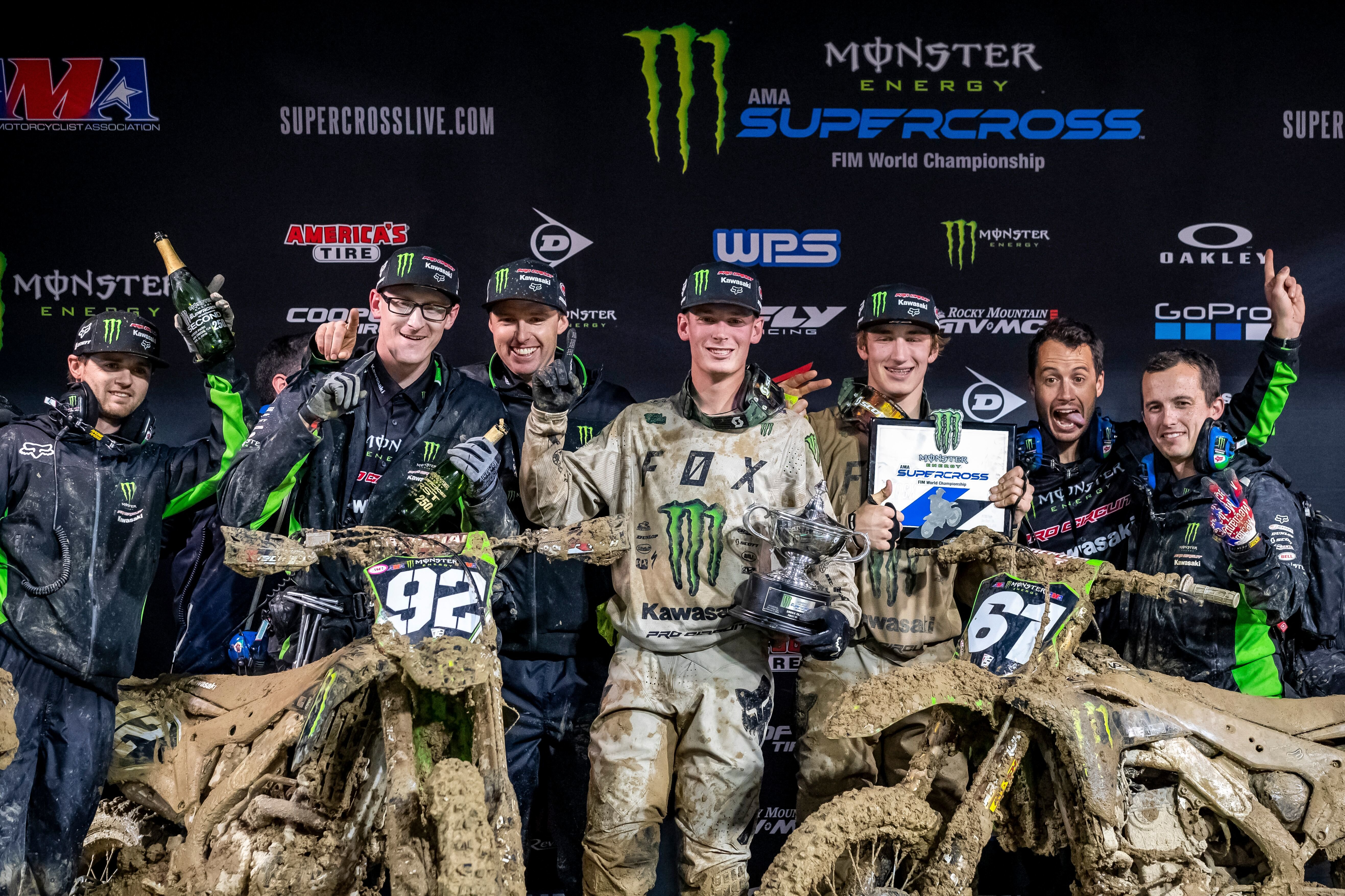 Monster Energy Pro Circuit Kawasaki Go 1-2 In San Diego As Cianciarulo Takes Over Points Lead