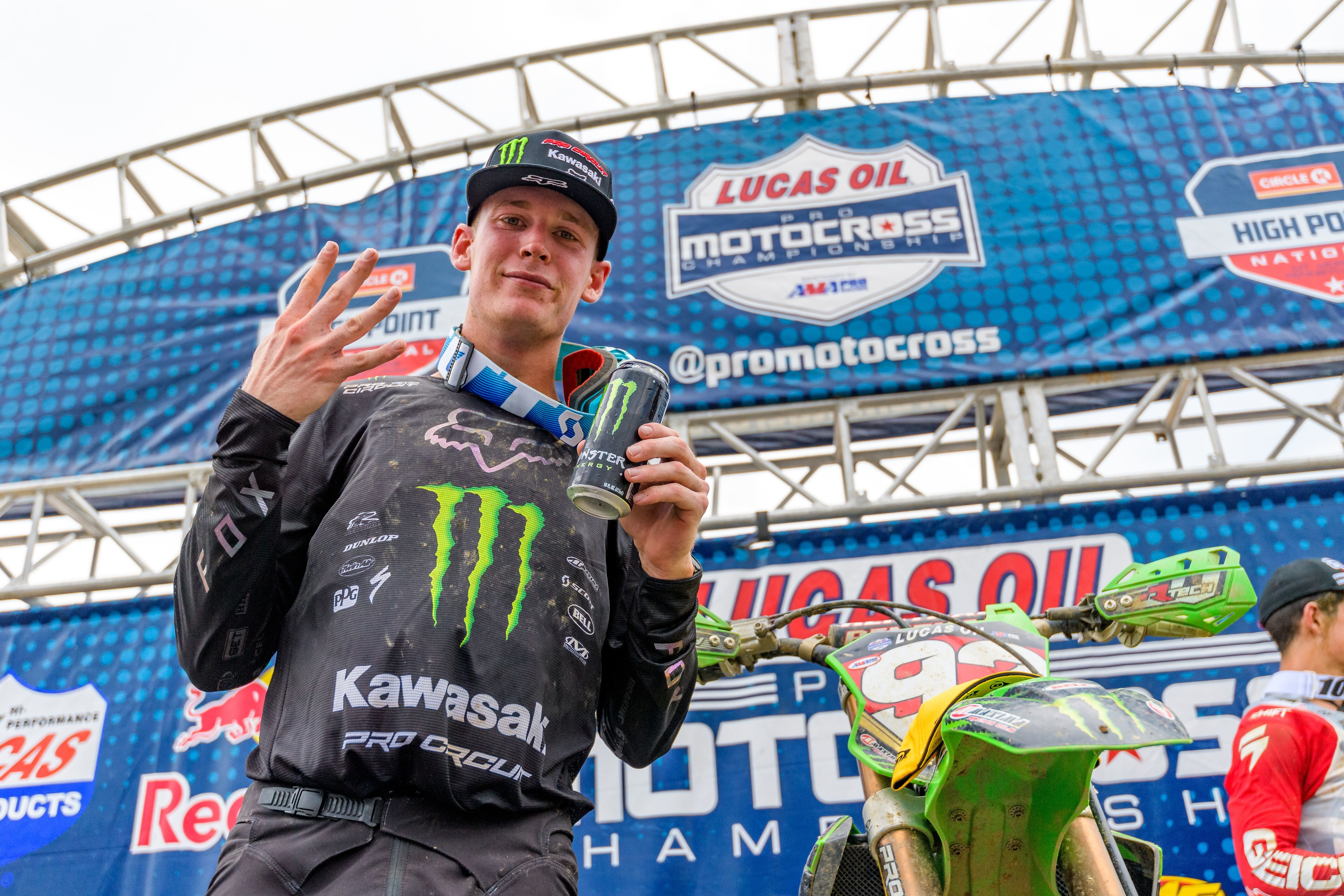 Monster Energy Pro Circuit Kawasaki's Cianciarulo Keeps Win-Streak Alive and Extends Points Lead
