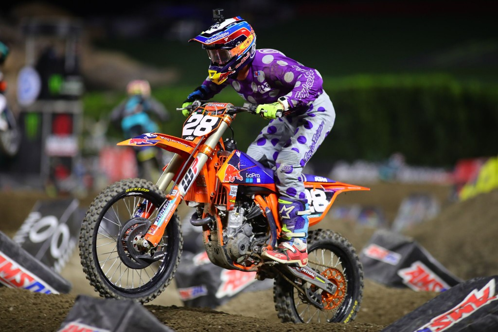 TLD KTM  McElrath Takes Over Points Lead With Podium Finish in Anaheim