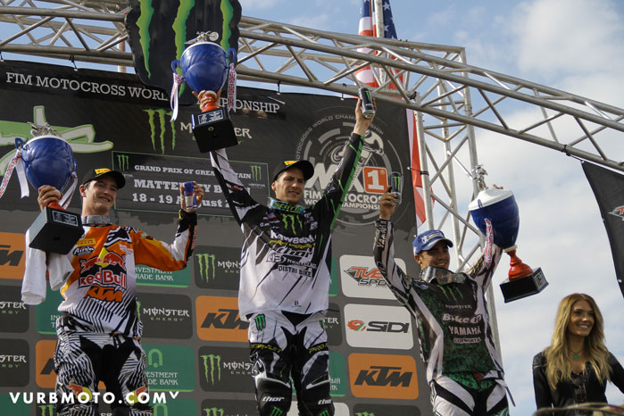 Pro Circuit's Tommy Searle on the MX2 Podium