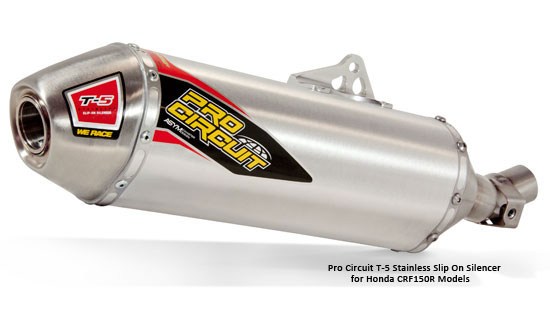 Pro Circuit T-5 Slip On Silencer for Honda CRF150R Models