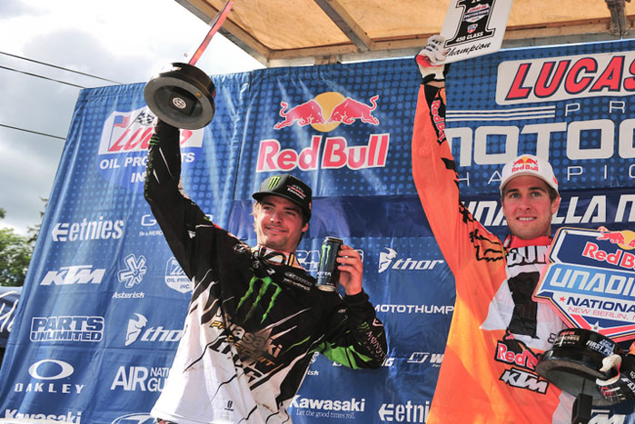 Pro Circuit's Broc Tickle earned second overall at the Unadilla National