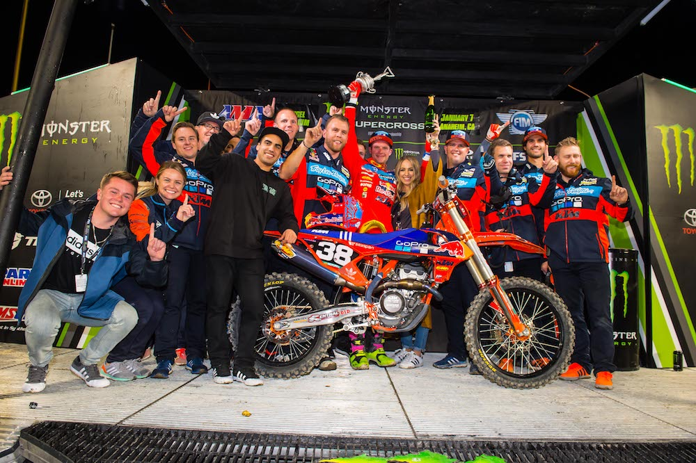 McElrath Captures First Career Win at Supercross Opener