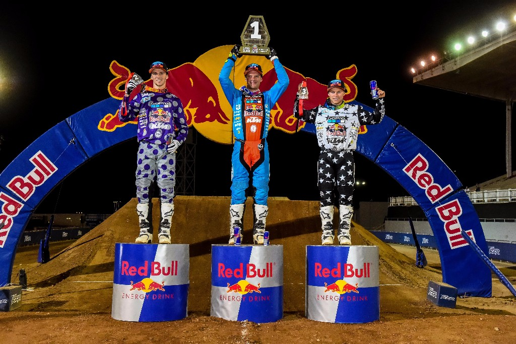 Troy Lee Designs/Red Bull/KTM Sweeps Red Bull Straight Rhythm Podium