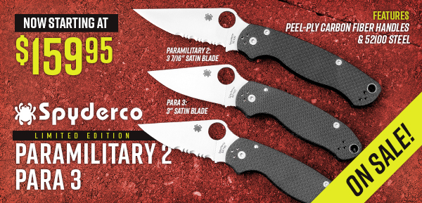 Deals on Spyderco Paramilitary 2 and Para 3