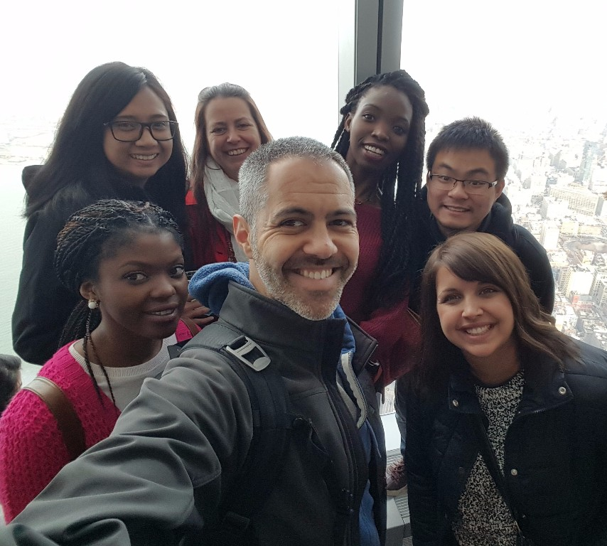 Our NYC tour group on top of the World...Trade Center