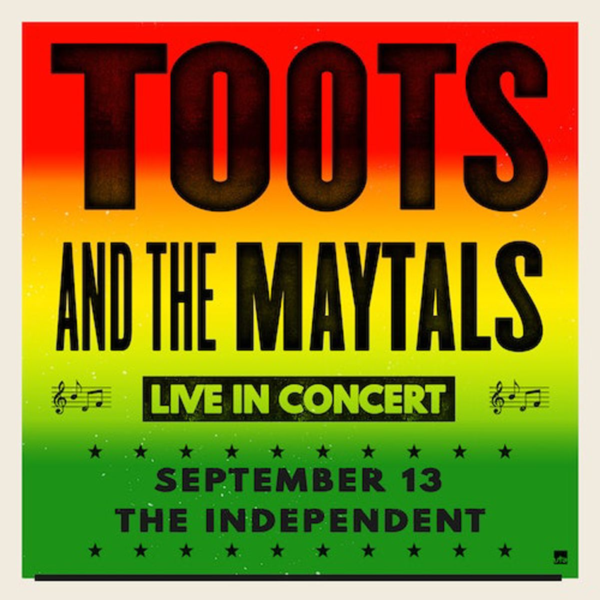 Friday, September 13: Toots and the Maytals and DJ Sep (Dub Mission) at the Independent, SF
