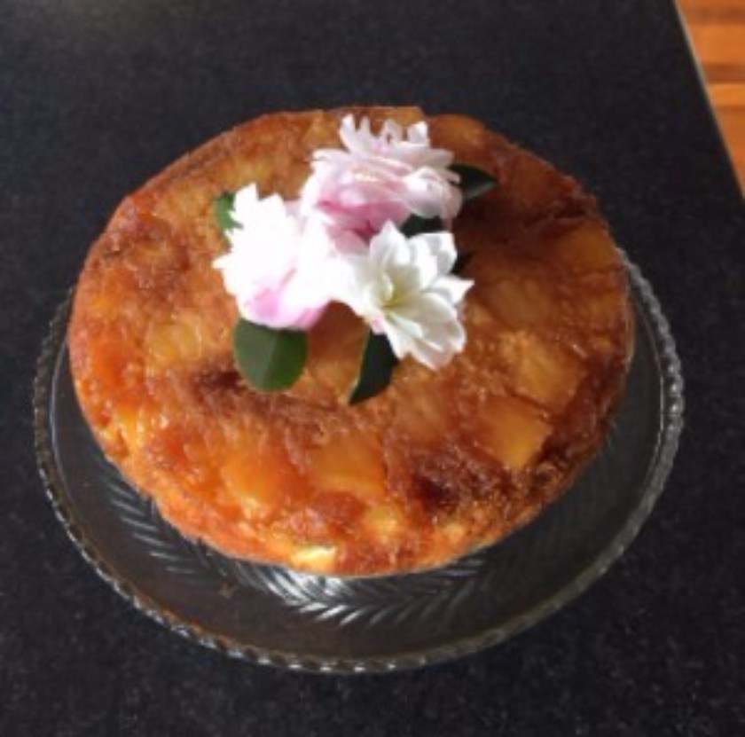 An old childhood favourite that my mum used to make Pineapple Upside-down Cake.