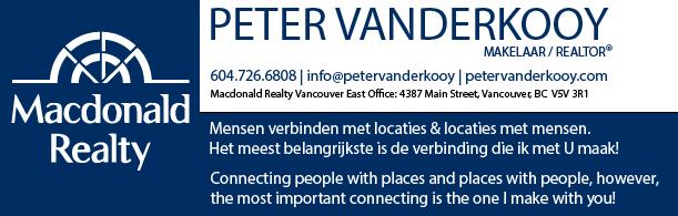 Peter Vanderkooy - Makelaar - Realtor - info@petervanderkooy.com - Mensen verbinden met locaties & locaties met mensen. Het meest belangrijkste is de verbinding die ik met U maak! Connecting people with places and places with people, however,  the most important connecting is the one I make with you!