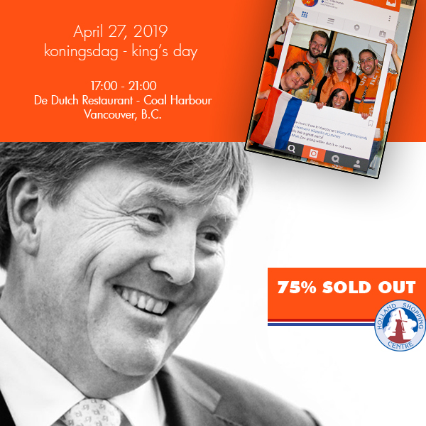KONINGSDAG - tickets 75% sold out!