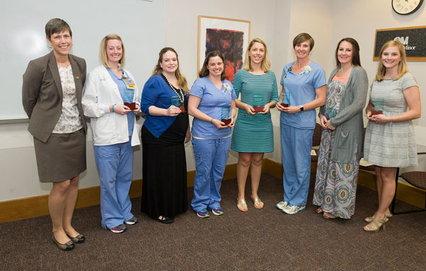 Alumni, students, and faculty during Week of the Nurse