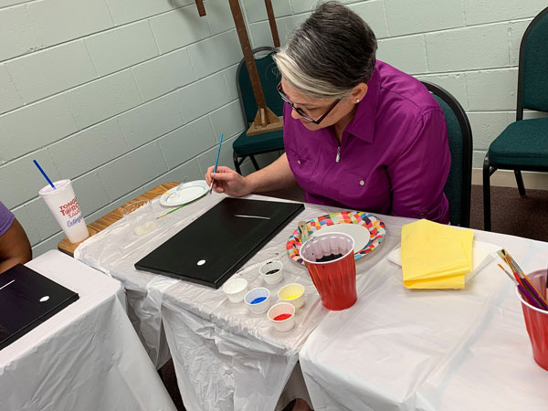 Art therapy at Massey offers a colorful perspective on healing