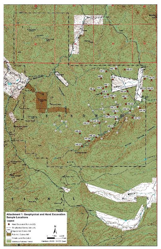 Map of Wildcat Silver claims and activities. Courtesy Freedom of Information Act.