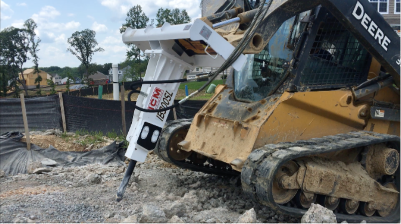 Hydraulic hammer for skid-steer