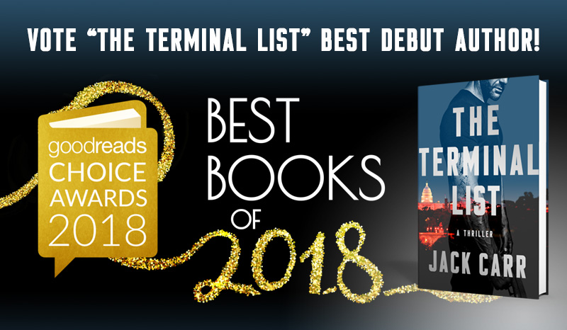 "Vote ""The Terminal List"" Best Debut Author"