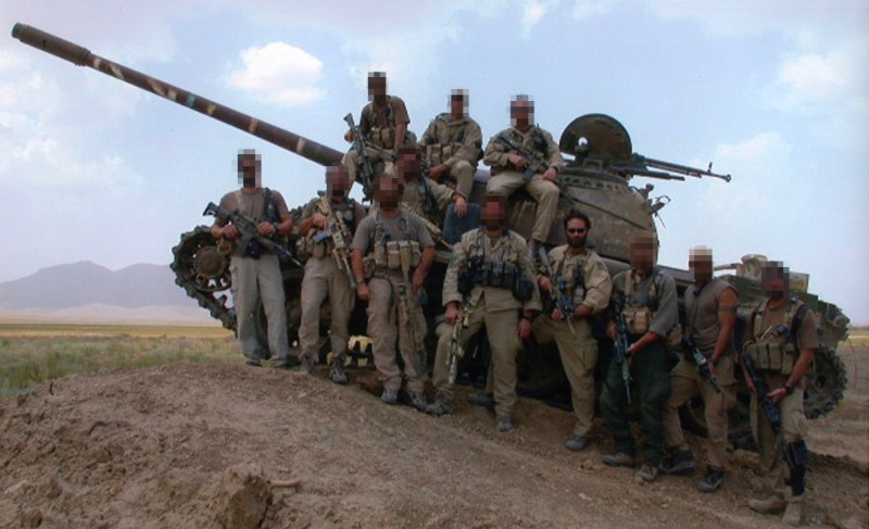 Tank with Military Operators