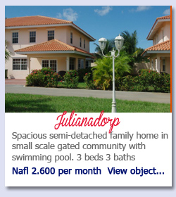 Julianadorp Curacao - Spacious semi-detached family home in small scale gated community with swimming pool. 3 beds 3 baths Nafl 2.600 per month  View object...