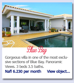 Gorgeous villa in one of the most exclusive sections of Blue Bay. Panoramic Views. 3 beds 3.5 baths.Nafl 6.230 per month     View object...
