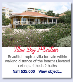 Blue Bay P-Section - Beautiful tropical villa for sale within walking distance of the beach! Elevated ceilings. 4 beds 2 baths Nafl 635.000   View object...
